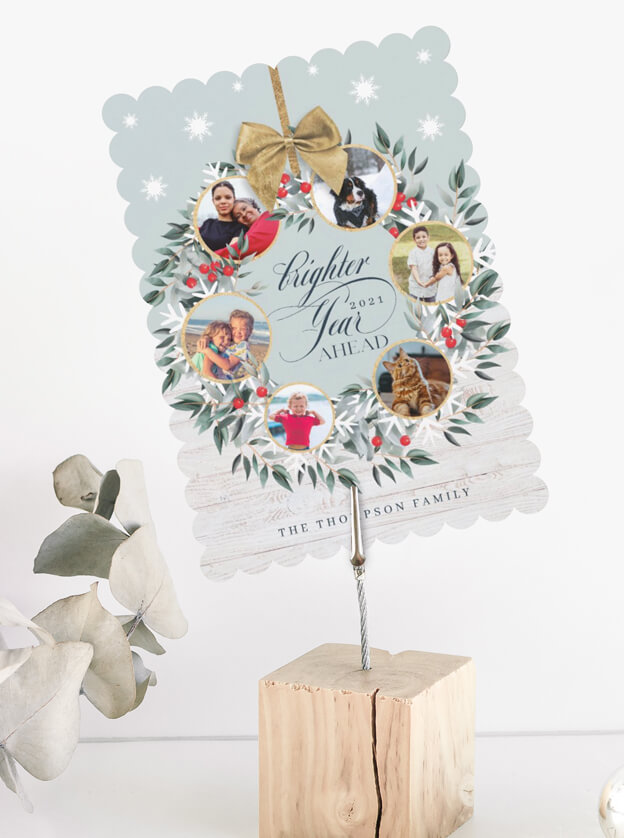 Snowflake Photo Collage Wreath Farmhouse Christmas By Moodthology Papery